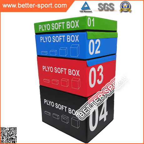 Exercise crossfit plyometric soft plyo box jump plyo soft box